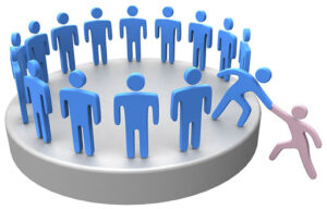 20238686 - helping hand member to join up with large social group or company